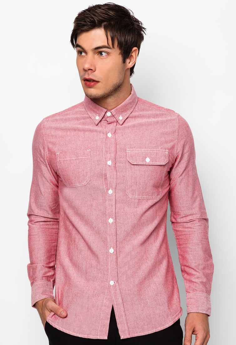 Get 50% Off Long Sleeve Oxford Shirt by WERKSTATEDENIM