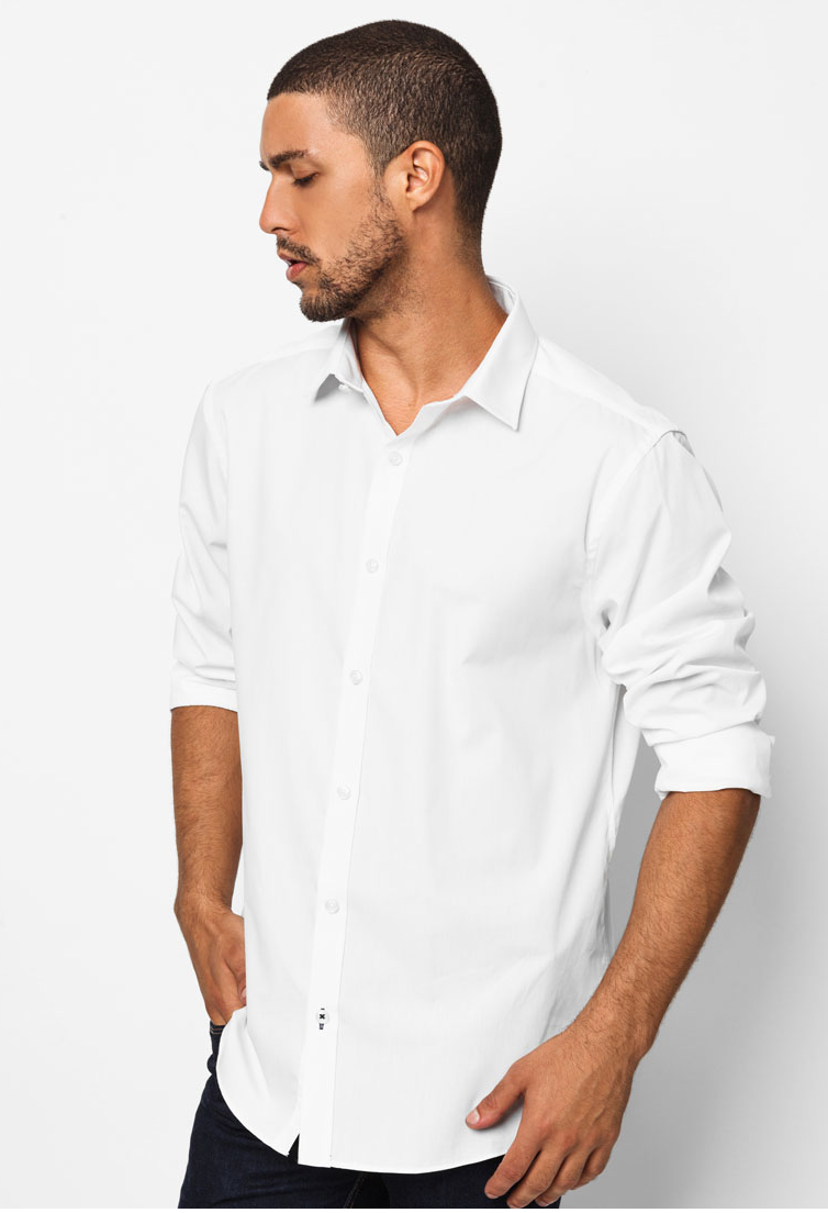 Get 10% Off White Poplin Shirt by River Island at Zalora.sg